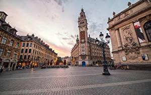 Bilder Haus Frankreich Straßenlaterne Stadtstraße Gehweg Lille Städte