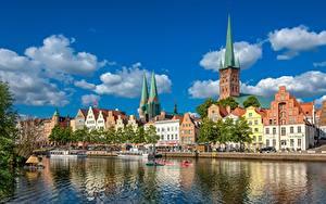 Hintergrundbilder Haus Deutschland Fluss Türme  Städte