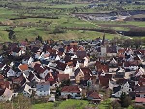 Hintergrundbilder Haus Deutschland Dorf Von oben  Städte