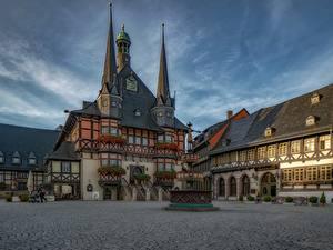 Bilder Gebäude Deutschland Stadtstraße Wernigerode Sachsen-Anhalt