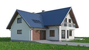 Hintergrundbilder Gebäude Rasen Gras Garage 3D-Grafik