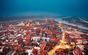 Bilder Haus Litauen Abend Kaunas Von oben