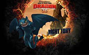 壁纸、、ヒックとドラゴン (映画)、ドラゴン、Night Fury (Toothless)、