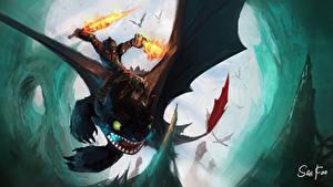 Fotos Drachenzähmen leicht gemacht Drache Junge Schwert Rüstung Fantasy