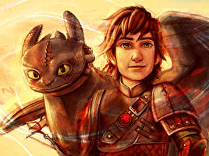 Image How to Train Your Dragon Dragons Young man