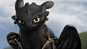 Bureaubladachtergronden How to Train Your Dragon Draken Van dichtbij Night Fury Cartoons 3D_graphics