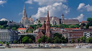 Fotos Ungarn Budapest Flusse Tempel Haus