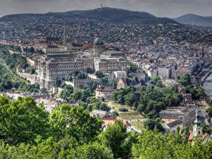 Hintergrundbilder Ungarn Haus Budapest Bäume