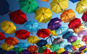 Fotos Ungarn Viel Stadtstraße Regenschirm