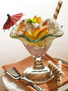 Desktop hintergrundbilder Speiseeis Obst Regenschirm Lebensmittel