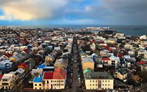Bilder Island Haus Straße Reykjavik Städte
