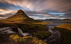 Fotos Island Gebirge Wolke Kirkjufell Natur