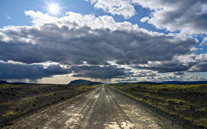 Bilder Island Wege Himmel Wolke Horizont
