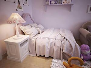 Bilder Innenarchitektur Kinderzimmer Design Bett Lampe