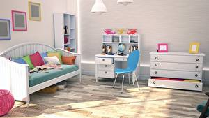 Photo Interior Children's room Design Couch Chairs