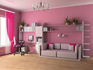 Fotos Innenarchitektur Kinderzimmer Design Sofa Kronleuchter 3D-Grafik