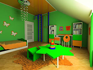Photo Interior Children's room Design Table