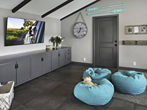Papel de Parede Desktop Design de interiores Relógio Design Sala de estar