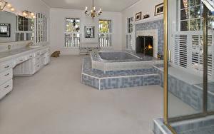 Pictures Interior Design Bathroom Fireplace