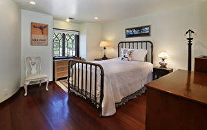 Photo Interior Design Bedroom Bed Lamp