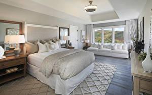 Bilder Innenarchitektur Design Schlafkammer Bett Lampe