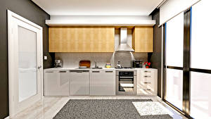Wallpapers Interior Design Kitchen 3D Graphics