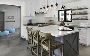 Desktop hintergrundbilder Innenarchitektur Design Küche Stühle Tisch