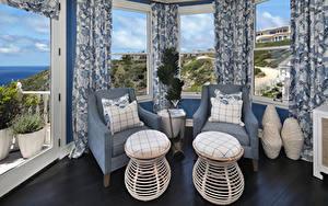 Bilder Innenarchitektur Design Wohnzimmer Sessel Kissen Fenster