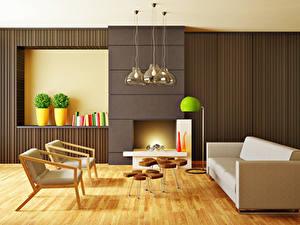 Bilder Innenarchitektur Design Wohnzimmer Sofa Sessel Lampe 3D-Grafik