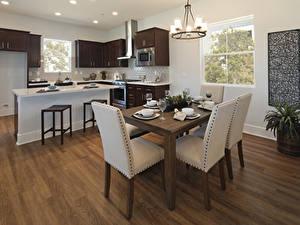 Bilder Innenarchitektur Servieren Design Küche Tisch Stühle