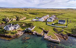 Fotos Irland Küste Gebäude Von oben Donegal