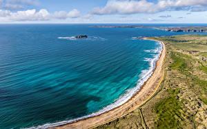 Bilder Irland Küste Wolke Von oben Pollan Bay