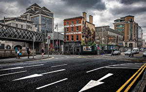 Fotos Irland Dublin Gebäude Wege Stadtstraße