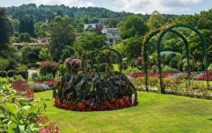 Fotos Italien Garten Design Strauch Rasen Villa Pallavicino Stresa Natur