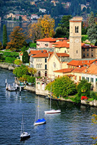 Bilder Italien Gebäude See Como Lake Milan