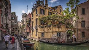 Hintergrundbilder Italien Haus Schiffsanleger Boot Venedig Kanal Straße Städte