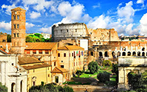 Hintergrundbilder Italien Haus Ruinen Rom Ancient Rome