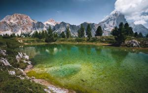 Fotos Italien See Gebirge Bäume Lago Limides