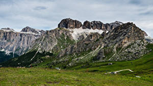 Hintergrundbilder Italien Berg Alpen Dolomites, Pordoi Pass