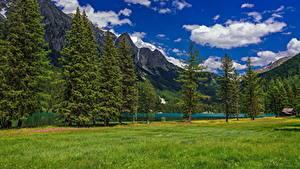 Bilder Italien Berg See Alpen Wolke Bäume Lake Anterselva