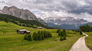 Fotos Italien Berg Straße Landschaftsfotografie Alpen Wolke Trentino-Alto Adige