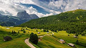 Bilder Italien Berg Landschaftsfotografie Wege Alpen Wolke Trentino-Alto Adige