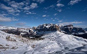 Hintergrundbilder Italien Berg Himmel Felsen Schnee Wolke Alpen Dolomites Natur