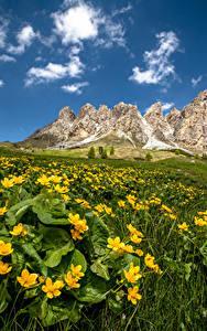 Desktop hintergrundbilder Italien Gebirge Alpen South Tyrol, Dolomites Natur