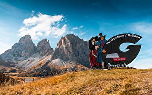 Fotos Italien Berg Val Gardena, South Tyrol, Dolomites Natur