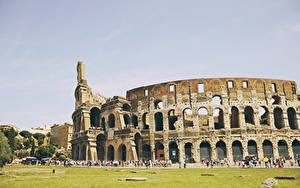 Pictures Italy Rome Colosseum Arch Cities