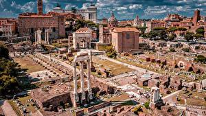 デスクトップの壁紙、、イタリア、ローマ、廃墟、著名建築、建物、Palatine Hill、都市