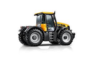 Bilder Traktoren Gelb Seitlich Weißer hintergrund JCB Fastrac 3230 Xtra