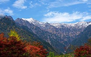 Hintergrundbilder Japan Berg Laubmoose Ast Canyon Kasagatake Mountain Natur