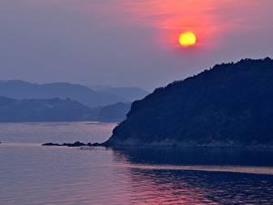 Fotos Japan Meer Sonne Tatsuno Hyogo Prefecture